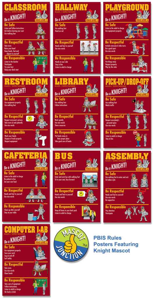 Knight Rules Posters PBIS