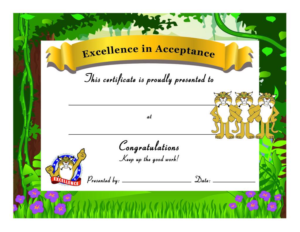 Wildcat Award Certificate