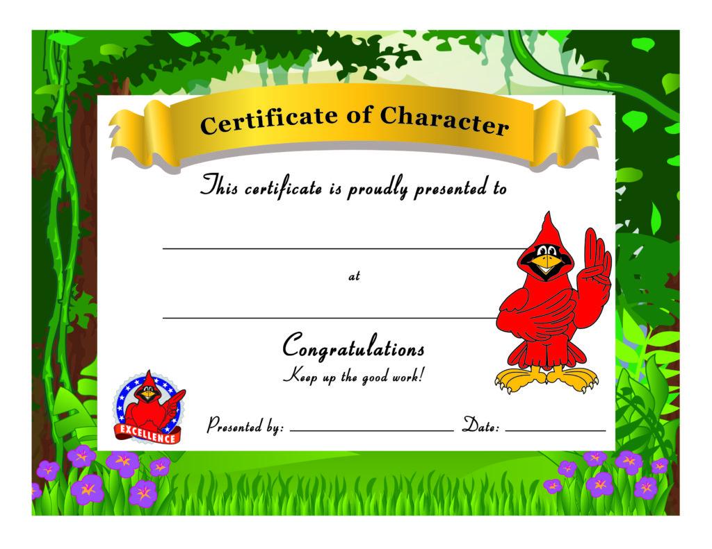 Cardinal Award Certificate