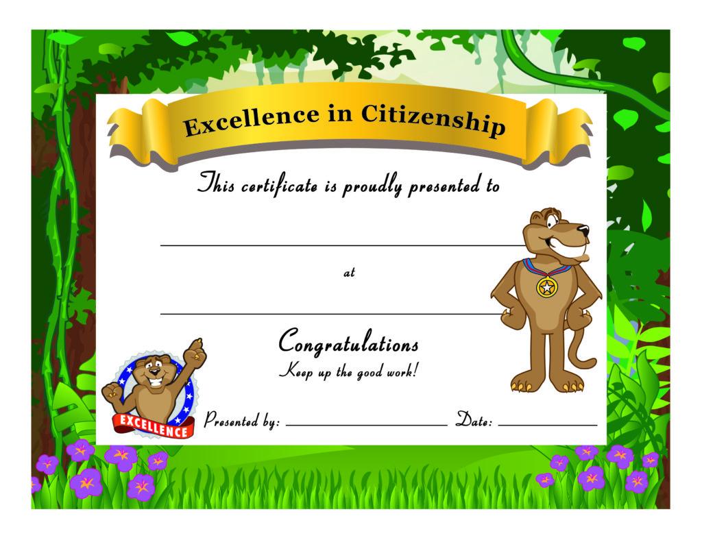 Cougar Award Certificate PBIS
