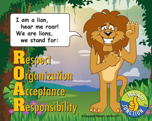 ROAR like a lion poster