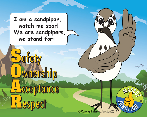 Sandpiper Mascot Poster