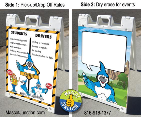 Blue Jay Mascot Signicade Sidewalk Sign PBIS