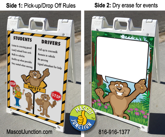 A-frame Sign Cougar Graphic PBIS