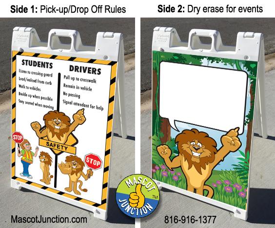 Lion Mascot Sign PBIS