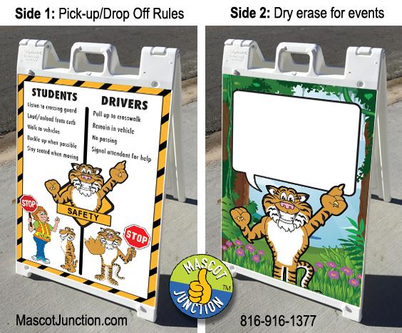 Tiger Clip Art Sign PBIS