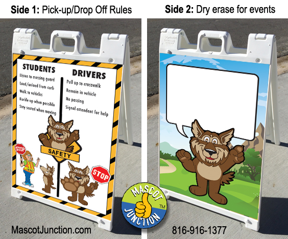 Wolf Mascot PBIS Sign Poster Banner
