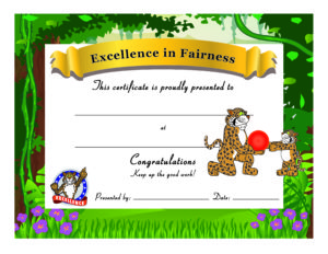Award Certificate PBIS Fairness