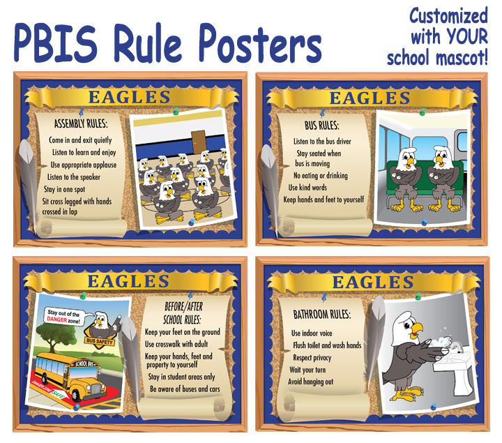PBIS Posters Rules Expectations Eagles