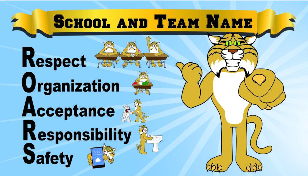 Bobcat Mascot Banner