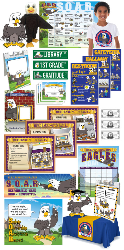 Mascot PBIS Posters Clipart