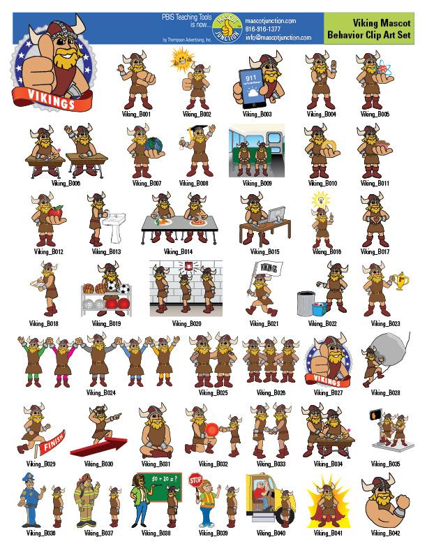 Viking Mascot Clip Art Behavior