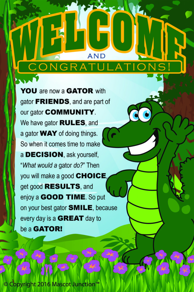 Character Ed Poster Gator