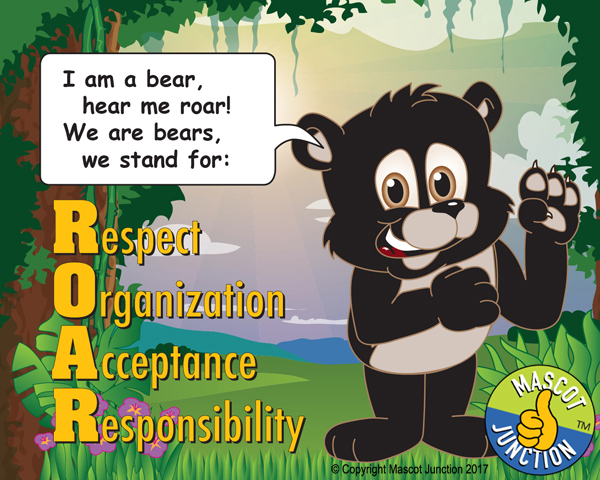 Bear ROAR Pledge Poster PBIS