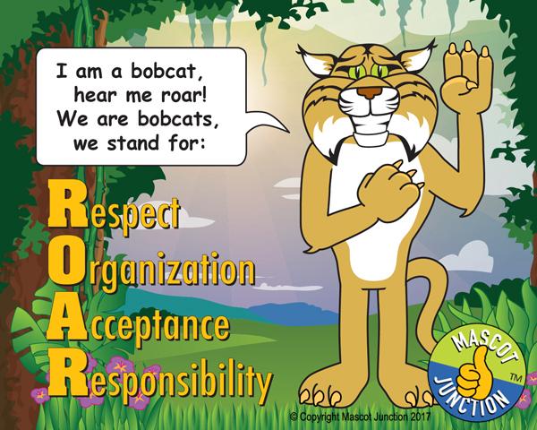 Bobcat pledge poster PBIS Schools