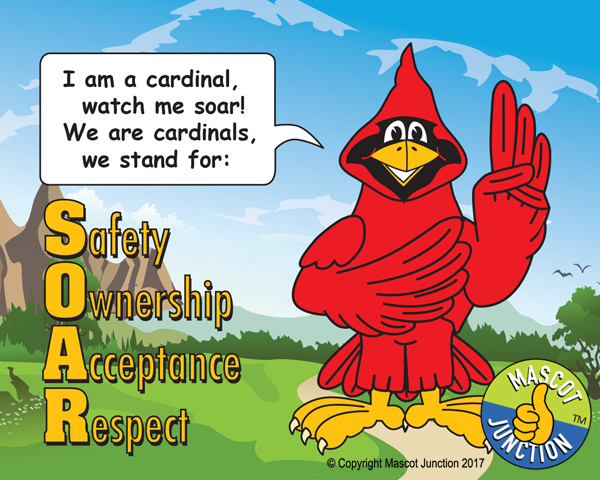 Cardinal pledge poster PBIS Schools