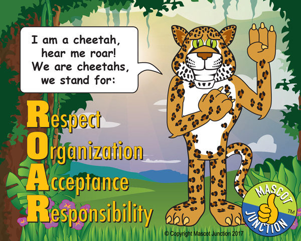 Cheetah pledge poster PBIS schools