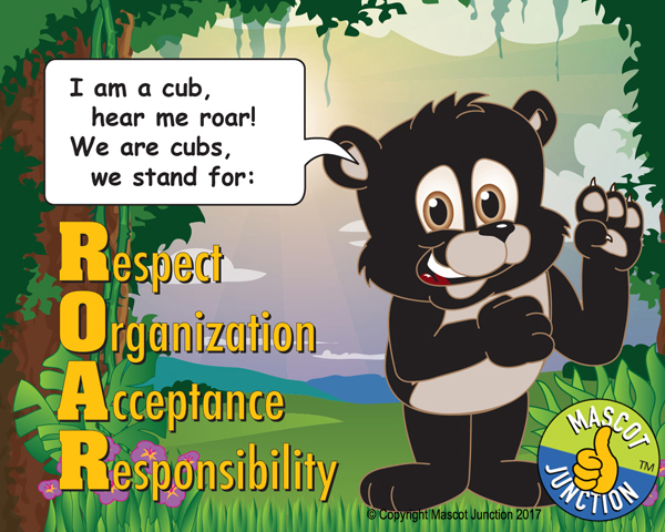 ROAR poster cub pledge