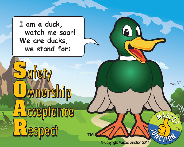 duck pledge poster
