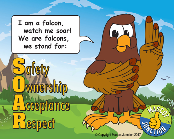 Falcon SOAR Pledge Poster