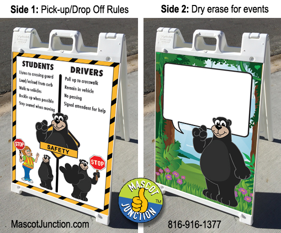 Sidewalk Sign PBIS Black Bear