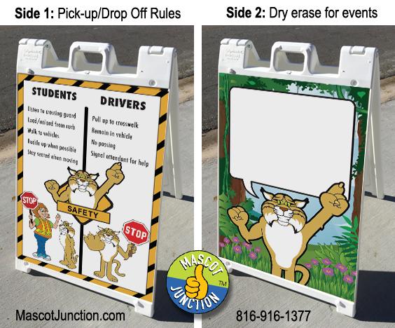 Bobcat Mascot Signicade Sidewalk Sign PBIS