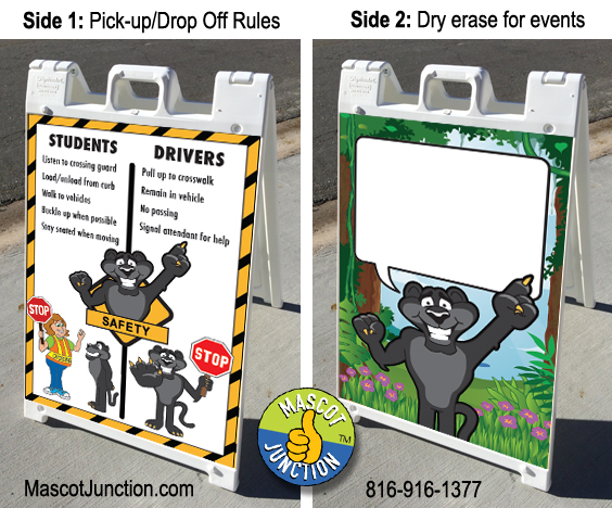 Sidewalk Sign PBIS Panther