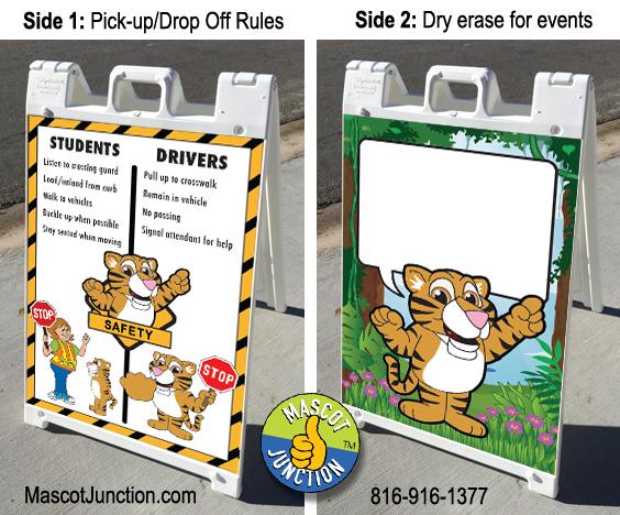 Tiger Cub Mascot A-frame Sign PBIS