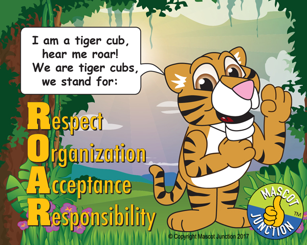 tiger cub pledge poster pbis