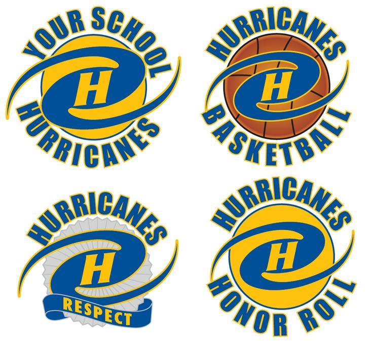Hurricane Logo Graphic Mascot PBIS