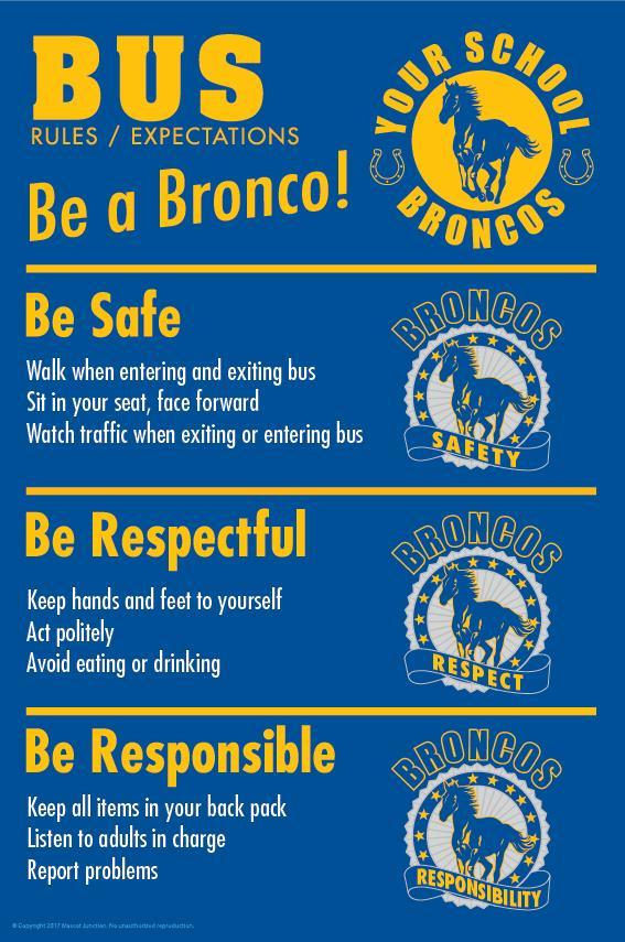 Mustangs Rules Poster Bus