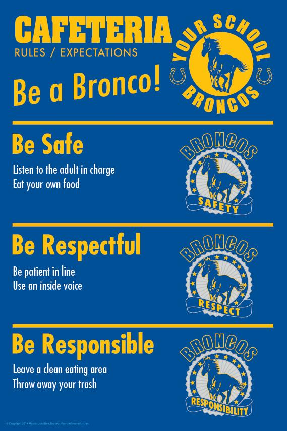 Colts Rules Poster Cafeteria