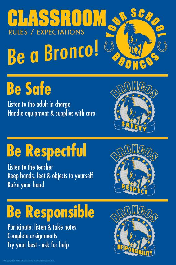 Mustang Rules Poster Classroom