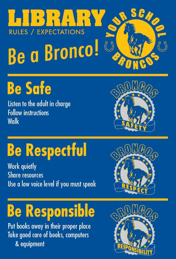 Bronco Rules Poster Library