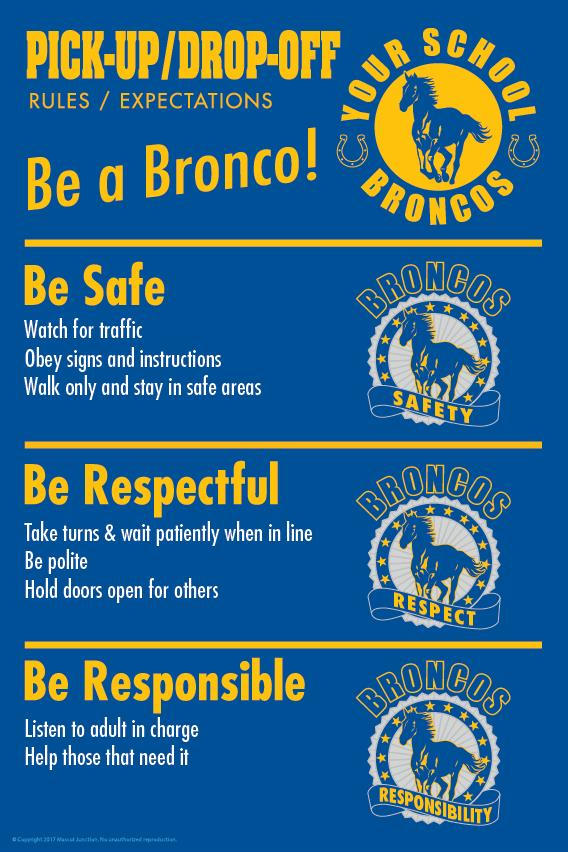 Bronco Rules Poster Pick Up