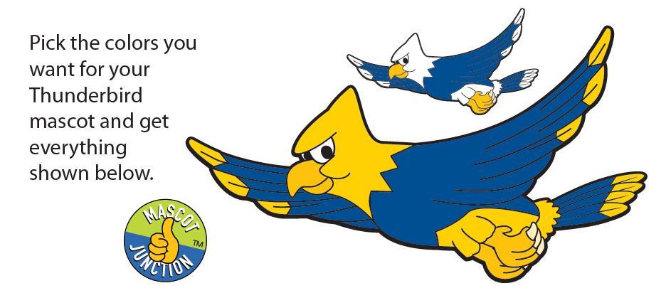 Thunderbird Mascot Clip Art
