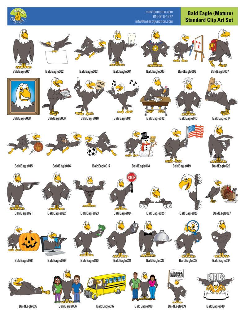 Eagle Mascot Clip Art Images Mature Std