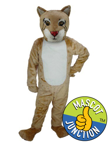Friendly Bobcat Wildcat Cub Mascot Costume