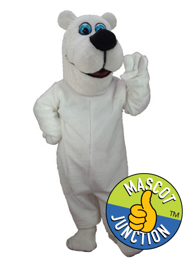 Friendly Polar Bear Mascot Costume