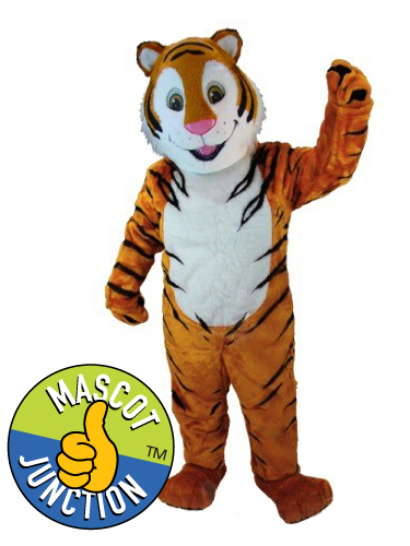 Friendly Tiger Mascot Costume