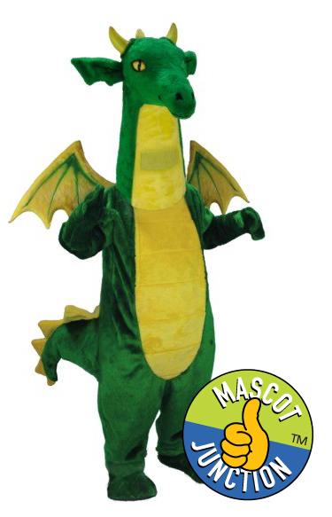 Friendly Dragon Mascot Costume
