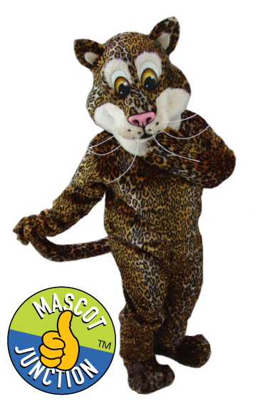 Friendly Cheetah Jaguar Leopard Mascot Costume