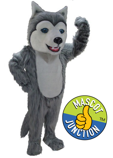 Friendly Husky Mascot Costume