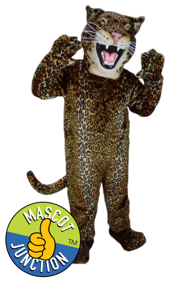 Fierce Leopard Jaguar Cheetah Mascot Costume