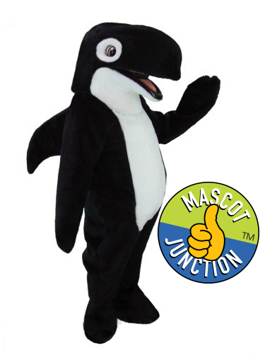 Friendly Orca Whale Mascot Costume