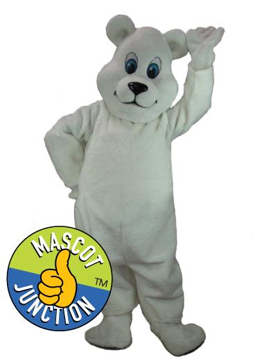 Friendly Polar Bear Mascot Costume