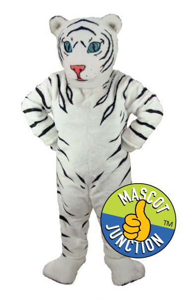 White Tiger Cub Mascot Costume