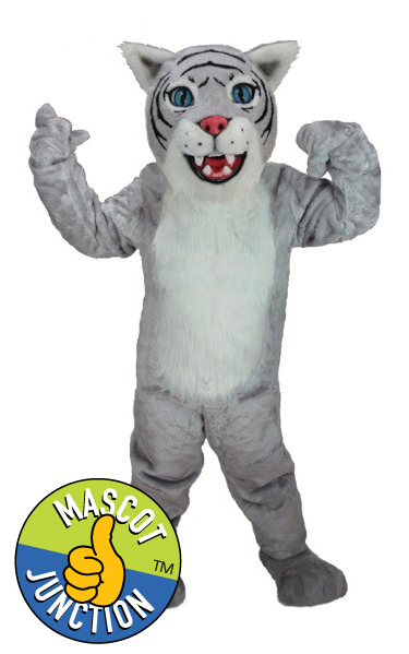 Grey Wildcat Bobcat Cub Mascot Costume