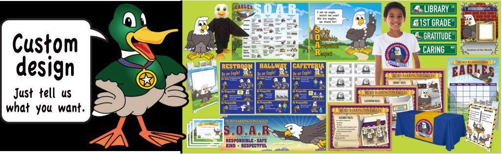 PBIS Posters Duck Mascot Clip Art