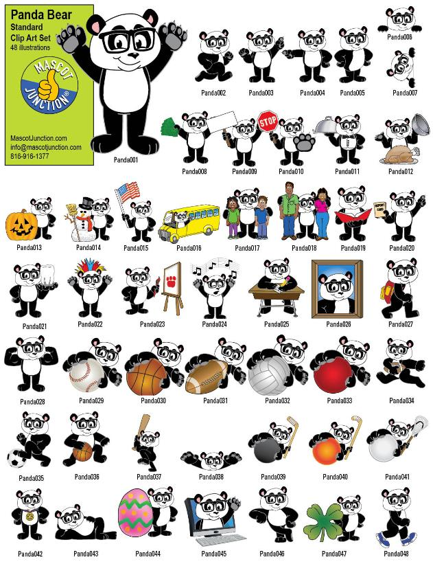 Panda Clip Art School PBIS Std